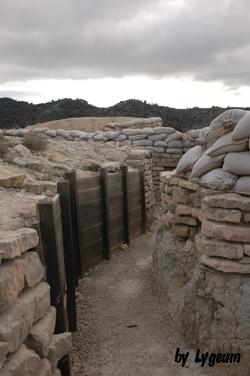 trincheras en Alcubierre
