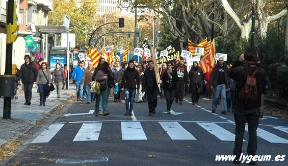 manifestación contra los embalses